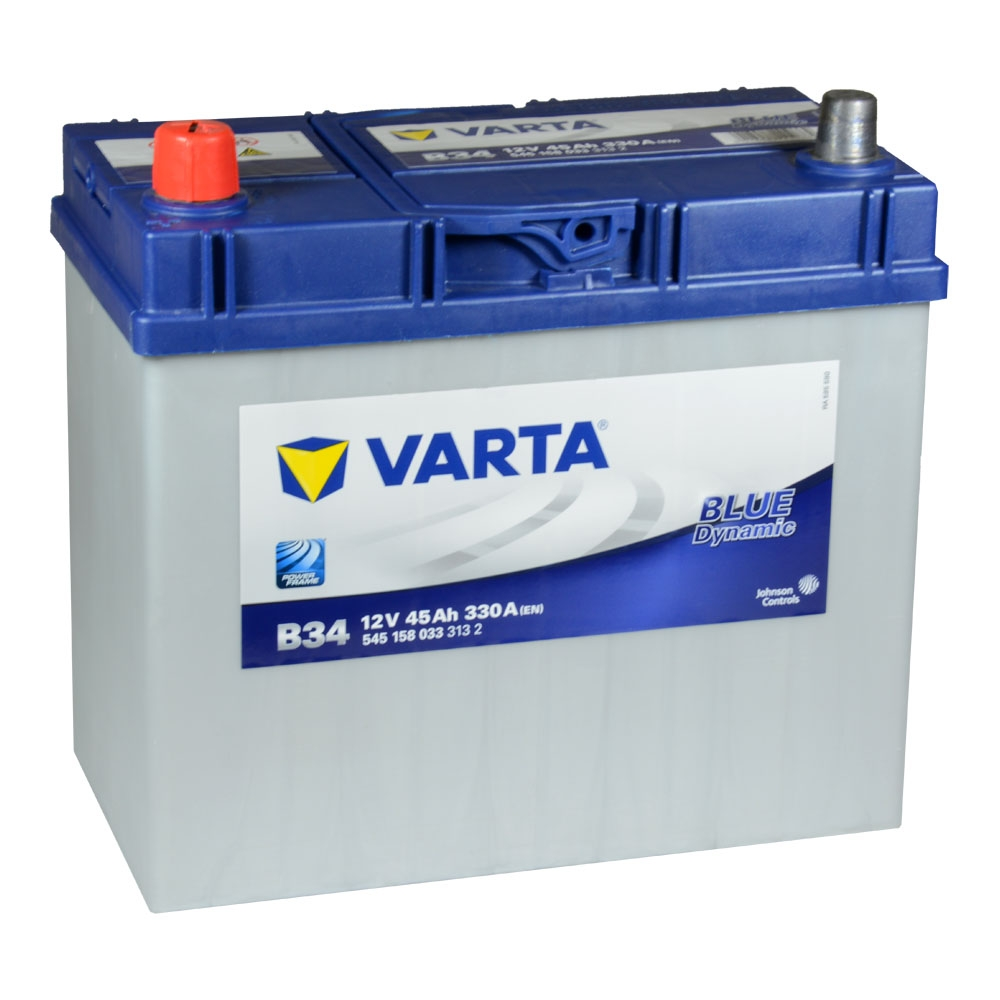 varta blue dynamic b34 autobatterie 12v 45ah. Black Bedroom Furniture Sets. Home Design Ideas