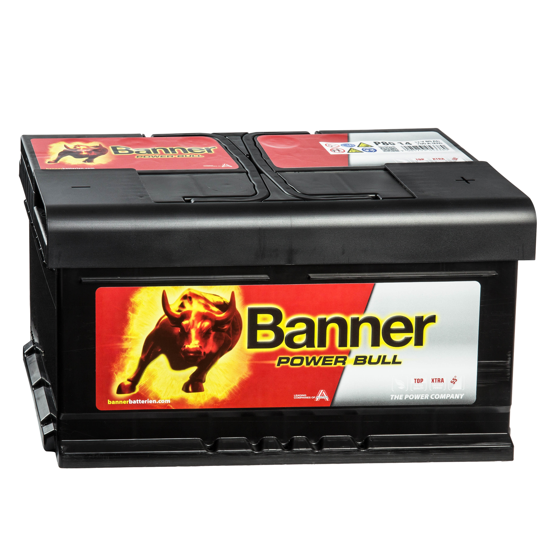 banner power bull p8014 autobatterie 12v 80ah. Black Bedroom Furniture Sets. Home Design Ideas