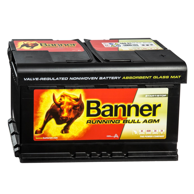 banner running bull autobatterie 12v 80ah 58001 agm. Black Bedroom Furniture Sets. Home Design Ideas