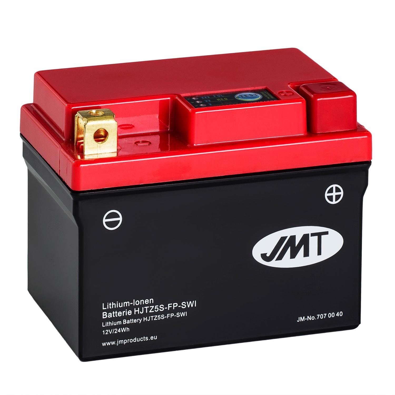 jmt lithium ionen motorrad batterie hjtz5s fp 12v. Black Bedroom Furniture Sets. Home Design Ideas
