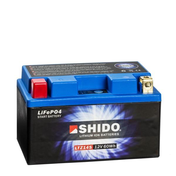 Shido Lithium Motorradbatterie LiFePO4 LTZ14S 12V