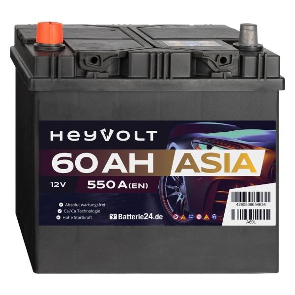 Target ASIA Autobatterie T60L 12V 60Ah Starterbatterie