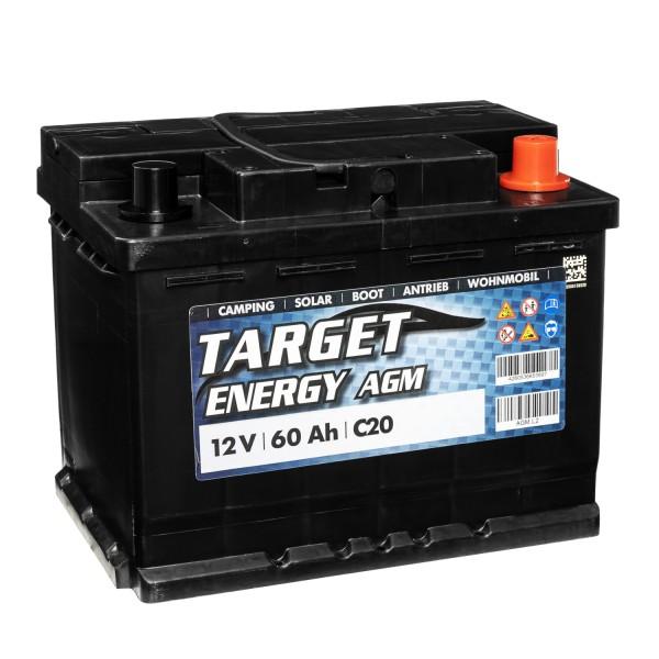 Target Energy AGM Batterie 12V 60Ah