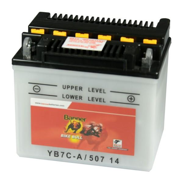 Banner Bike Bull Motorradbatterie YB7C-A 12V 8Ah 50714 trocken