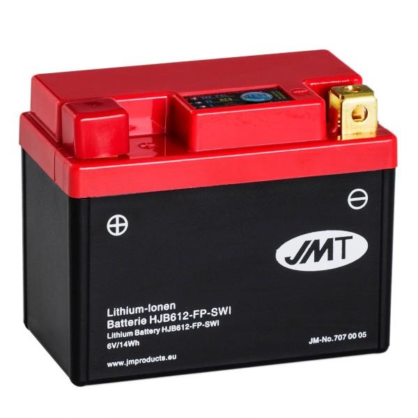 JMT Lithium-Ionen-Motorrad-Batterie HJB612-FP 6V