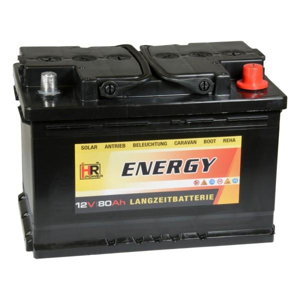 HR-ENERGY Batterie 12V 80Ah