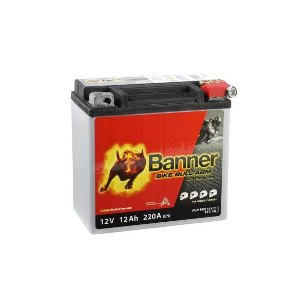 Banner AGM PRO Motorradbatterie 51421 ETX14L 12V 12Ah