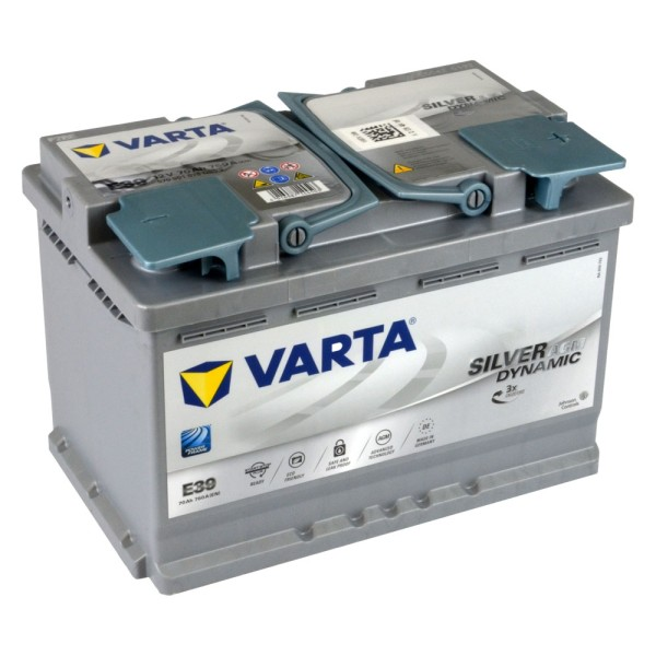 VARTA E39 Silver Dynamic AGM Autobatterie 12V 70Ah