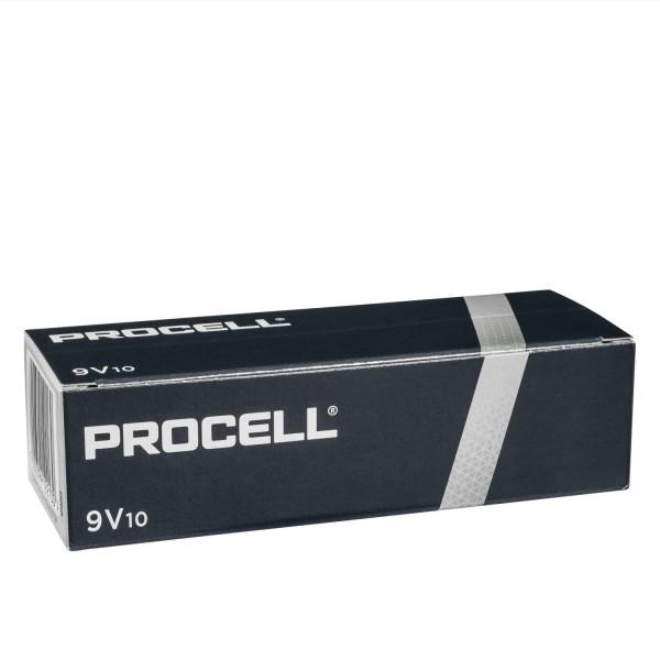 10x Duracell Procell E 9V Block 6LR61 Alkali Batterien