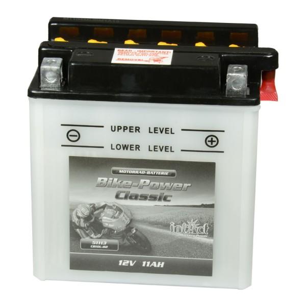 intAct Bike-Power Motorradbatterie Classic YB10L-B2 12V 11Ah 51113 trocken