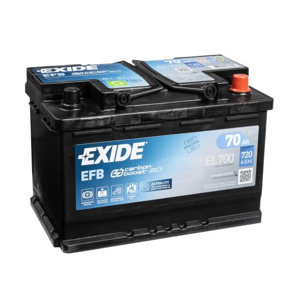 Exide EFB 12V 70Ah EL700 Autobatterie