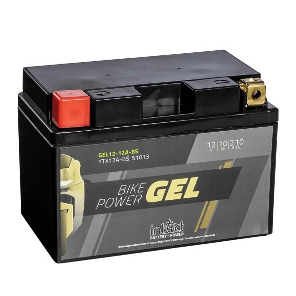 intAct Bike-Power Motorradbatterie GEL YTX12A-BS 12V 10Ah 51013 Gel12-12A-BS