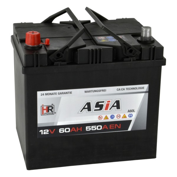 HR HiPower ASIA Autobatterie A60L 12V 60Ah