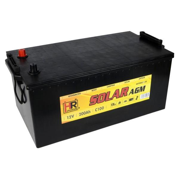 HR Solar AGM 12V 200Ah Versorgungsbatterie