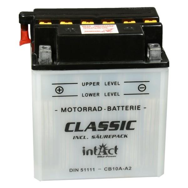 intAct Bike-Power Motorradbatterie Classic YB10A-A2 12V 11Ah 51111 trocken