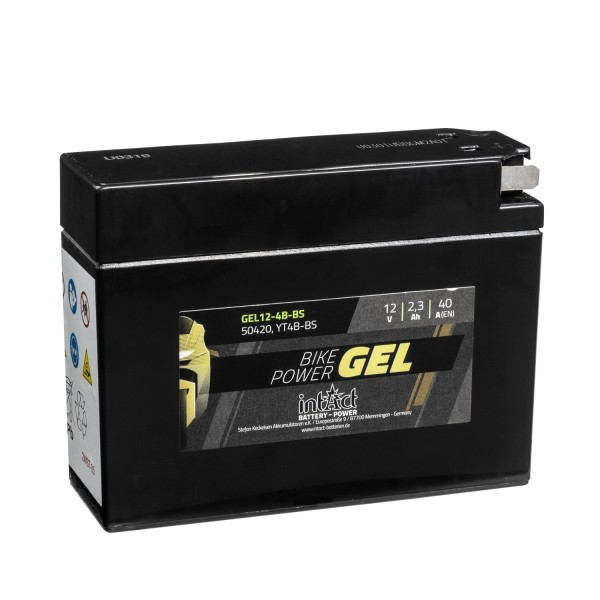 intAct Bike-Power Motorradbatterie GEL 12V 2,3Ah 12-4B-BS 50420