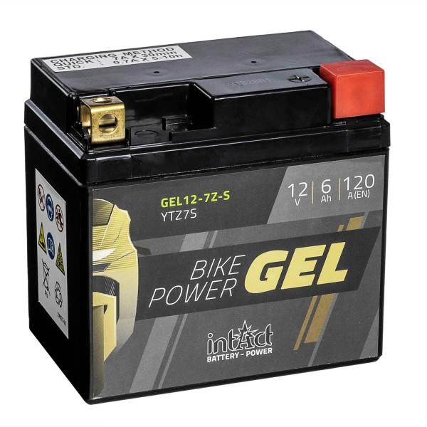 intAct Bike-Power Motorradbatterie GEL YTZ7-S 12V 6Ah Gel12-7Z-S