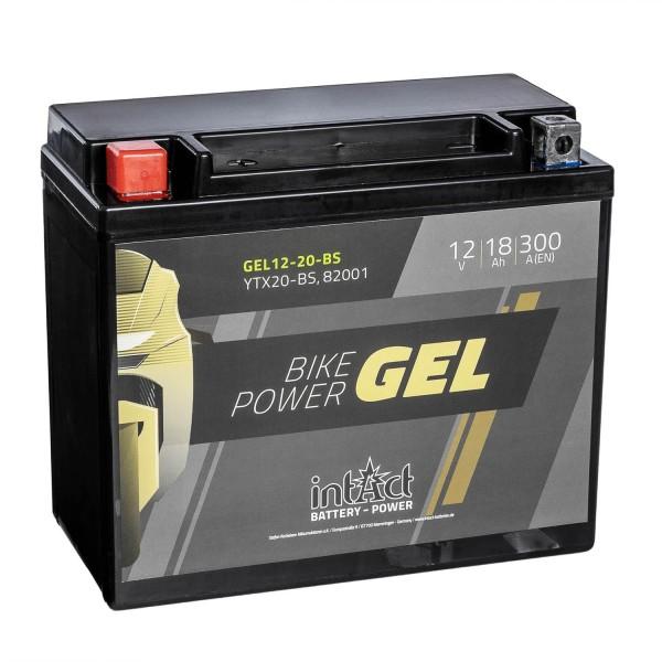 intAct Bike-Power Motorradbatterie GEL 12V 18Ah YTX20-BS 82001 Gel12-20-BS