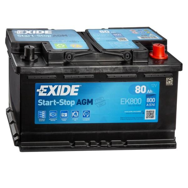 Exide EK800 AGM Autobatterie 12V 80Ah