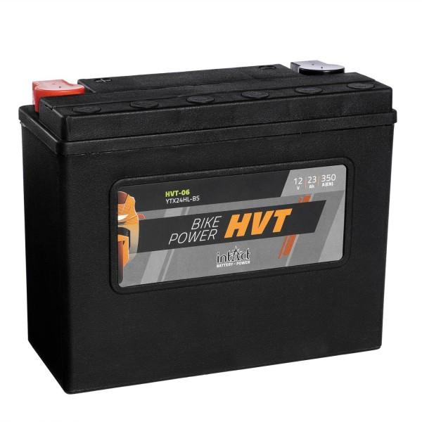 intAct Bike-Power Motorradbatterie HVT YTX24HL-BS 12V 23Ah HVT-06