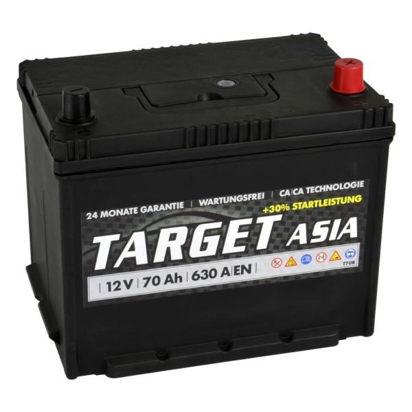 Target ASIA Autobatterie T70R 12V 70Ah Starterbatterie