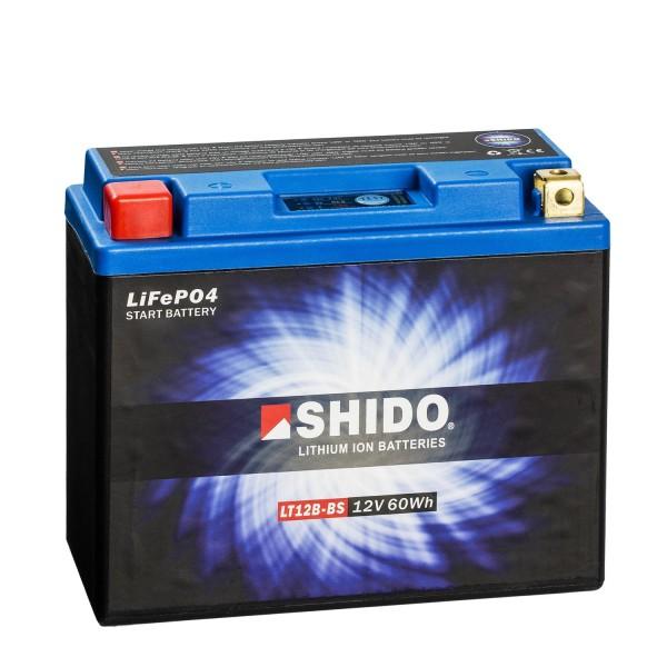 Shido Lithium Motorradbatterie LiFePO4 LT12B-BS 12V