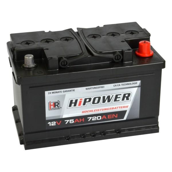HR HiPower Autobatterie 12V 75Ah