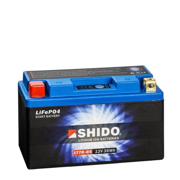 Shido Lithium Motorradbatterie LiFePO4 LT7B-BS 12V