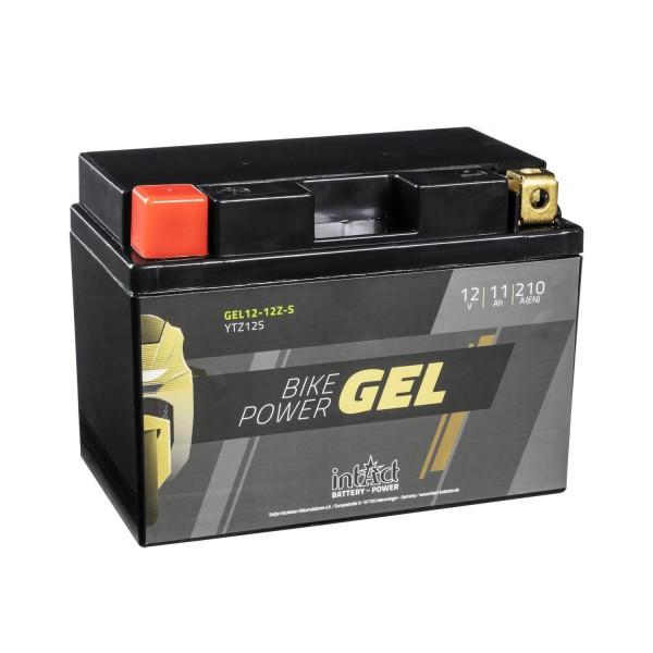 intAct Bike-Power Motorradbatterie GEL YTZ12-S 12V 11Ah Gel12-12Z-S