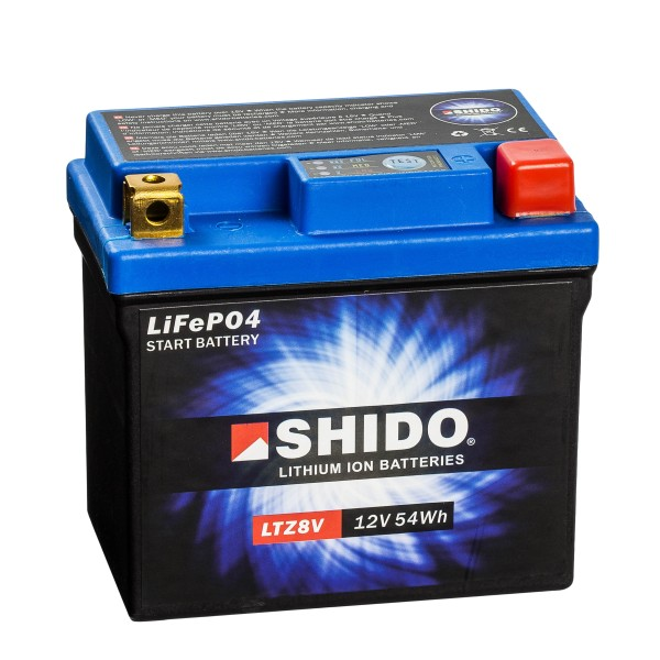 Shido Lithium Motorradbatterie LiFePO4 LTZ8V 12V