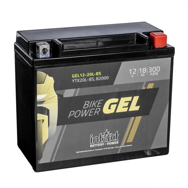 intAct Bike-Power Motorradbatterie GEL YTX20L-BS 12V 18Ah 82000 Gel12-20L-BS