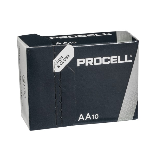 10x Duracell Procell AA Mignon LR6 Alkali Batterien