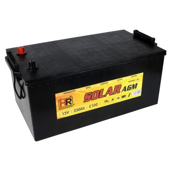 HR Solar AGM 12V 230Ah Versorgungsbatterie