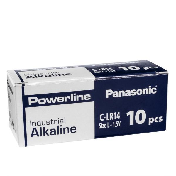 10x Panasonic Industrial Powerline C Baby Zellen LR14 Batterien