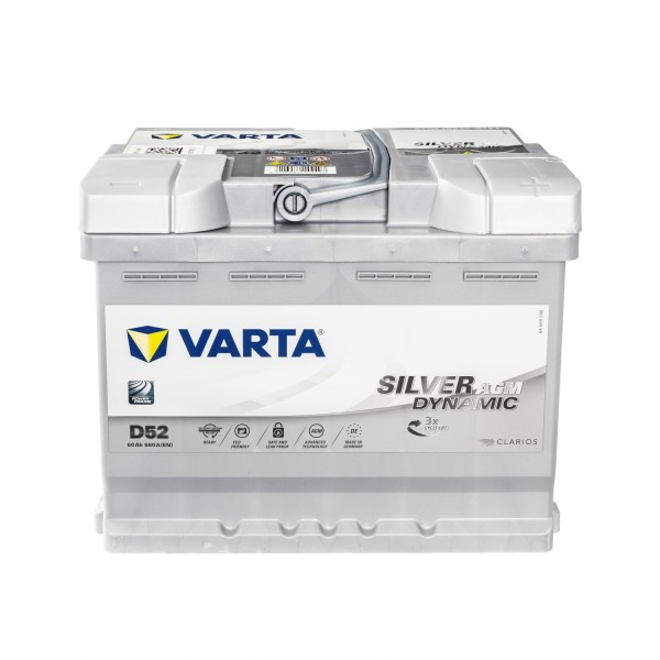 VARTA D52 Silver Dynamic AGM Autobatterie 12V 60Ah