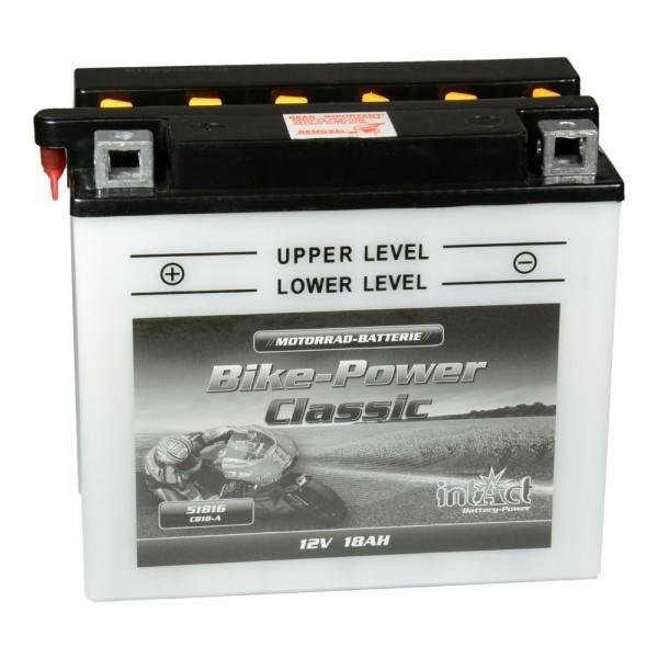 intAct Bike-Power Motorradbatterie Classic YB18-A 12V 18Ah 51816 trocken