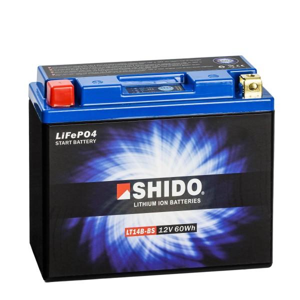 Shido Lithium Motorradbatterie LiFePO4 LT14B-BS 12V