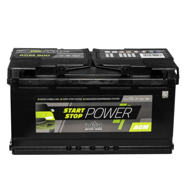 intAct Start-Stop Power AGM900 AGM Autobatterie 12V 90Ah