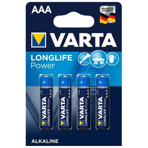 VARTA LONGLIFE Power Micro AAA 4903 LR03 MN2400 Alkaline Batterien 4er Blister