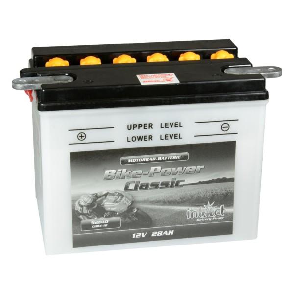intAct Bike-Power Motorradbatterie Classic CHD4-12 (CHD-12) 12V 28Ah 52810 trocken