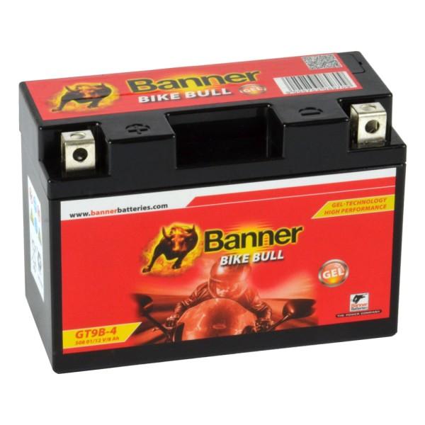 Banner Bike Bull Motorradbatterie GEL YT9B-4 GT9B-4 12V 8Ah 50801