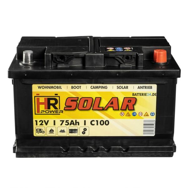 HR Solar Versorgerbatterie 12V 75Ah