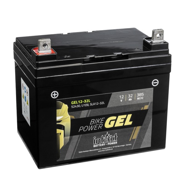 intAct Bike-Power Motorradbatterie GEL 12V 32Ah 12-32L 52430