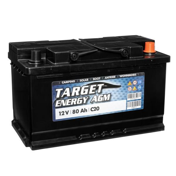 Target Energy AGM Batterie 12V 80Ah