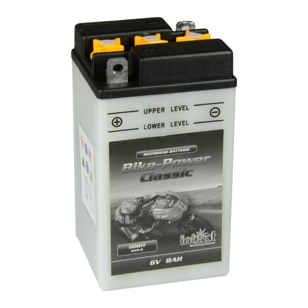 intAct Bike-Power Motorradbatterie Classic B49-6 6V 8Ah 00811 trocken