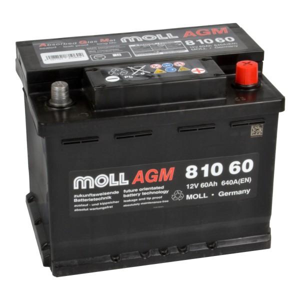 MOLL start stop plus AGM 81060 Autobatterie 12V 60Ah