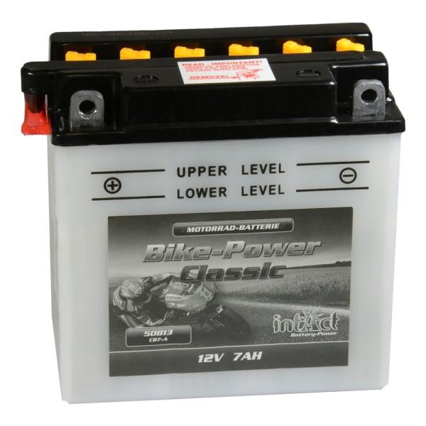 intAct Bike-Power Motorradbatterie Classic YB7-A 12V 8Ah 50813 trocken
