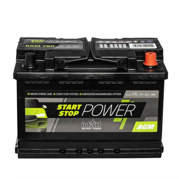 intAct Start-Stop Power AGM760 AGM Autobatterie 12V 70Ah