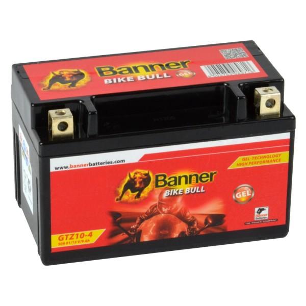 Banner Bike Bull Motorradbatterie GEL YTZ10-S GTZ10-4 12V 9Ah 50901