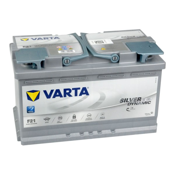 VARTA F21 Silver Dynamic AGM Autobatterie 12V 80Ah